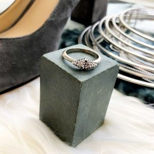 House of Harlow Silver Pave Ring